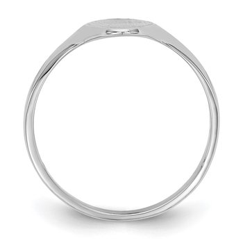 14k White Gold 15.5x7.0mm Closed Back Signet Ring