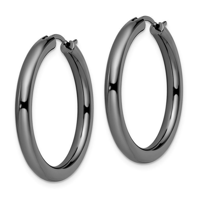 Leslie's Leslie's Sterling Silver Black-plated 3.5mm Tube Earrings