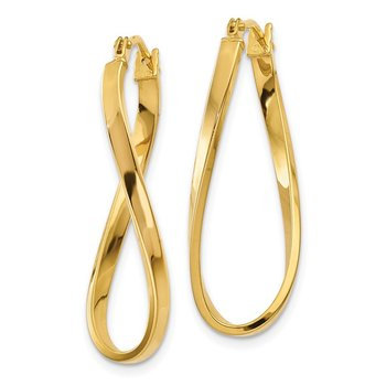 14k Small Twisted Earrings
