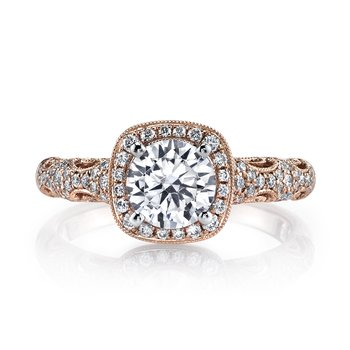 MARS 25870 Diamond Engagement Ring 0.33 Ctw.