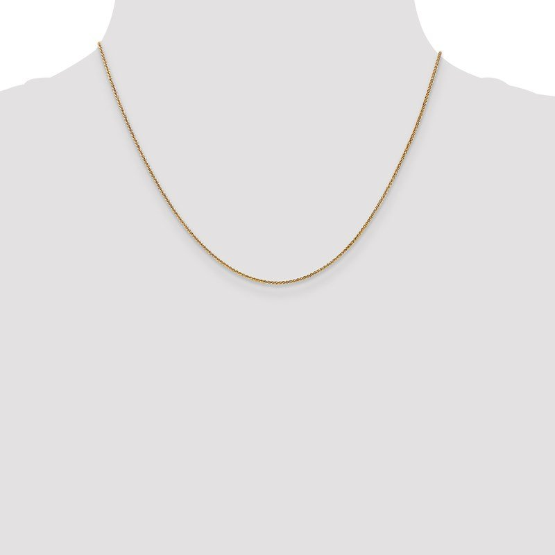 Leslie's Leslie's 14K 1mm Spiga (Wheat) Chain
