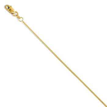 Leslie's 14K 1mm Spiga (Wheat) Chain