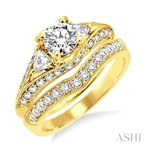 ASHI diamond wedding set