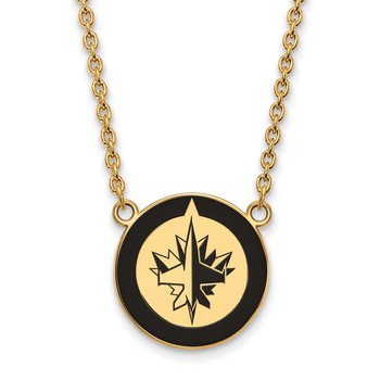 Gold-Plated Sterling Silver Winnipeg Jets NHL Necklace