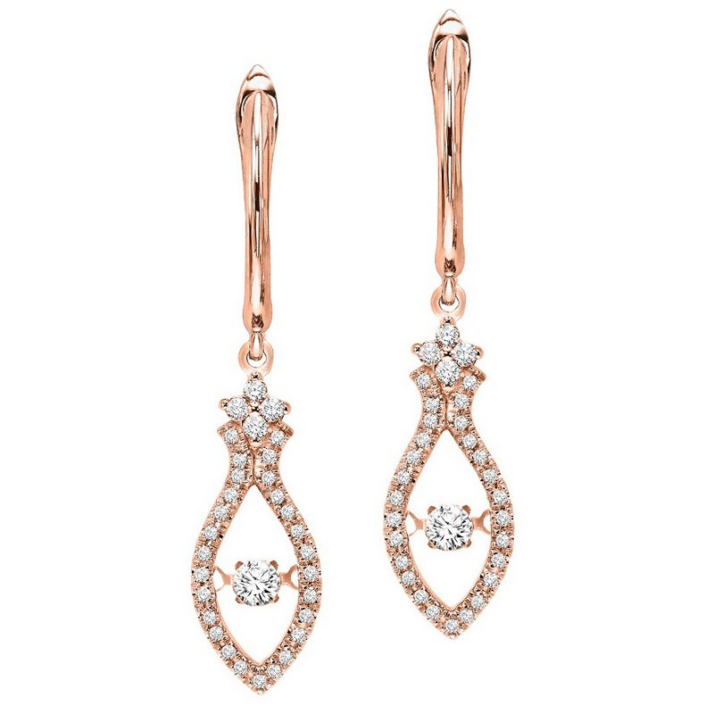 Rhythm of Love 14K Diamond Rhythm Of Love Earrings 3/8 ctw