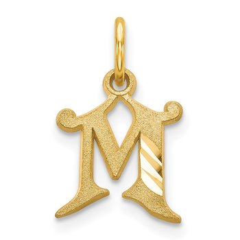 14k Letter M Initial Charm