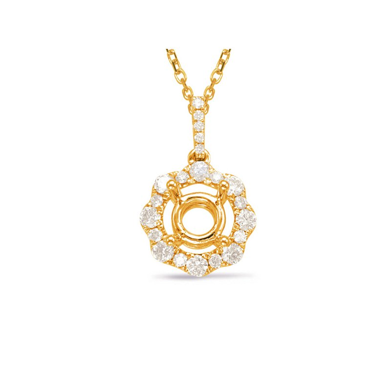 Briana Diamond Pendant For 0.50ct Round Cente
