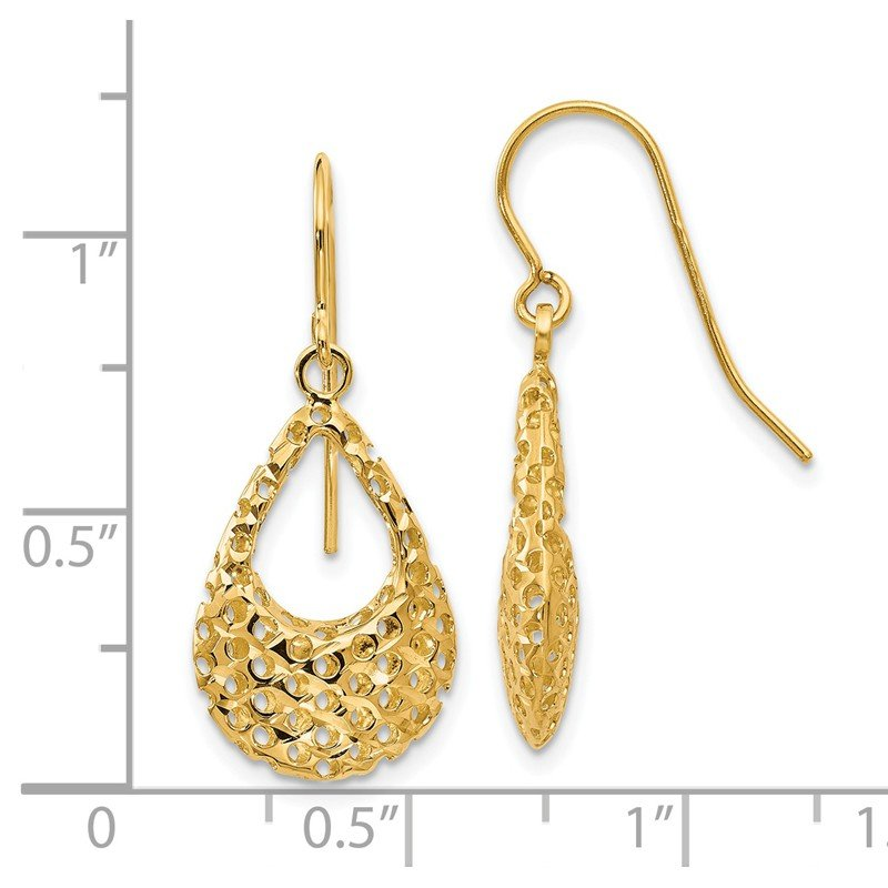 Leslie's Leslie's 14K D/C Shepherd Hook Earrings