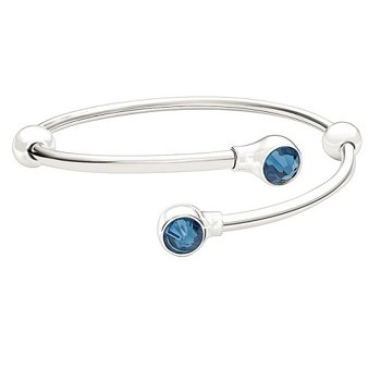 Flex Bangle with Montana Swarovski Crystals