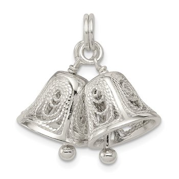 Sterling Silver Bells Charm