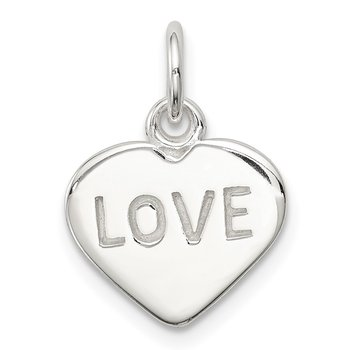 Sterling Silver Love Heart Charm