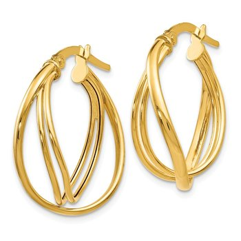 Leslie's 14K Polished Twist Hoop Earrings