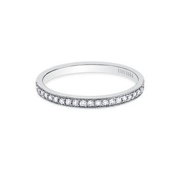 Milgrain Classic Diamond Wedding Band