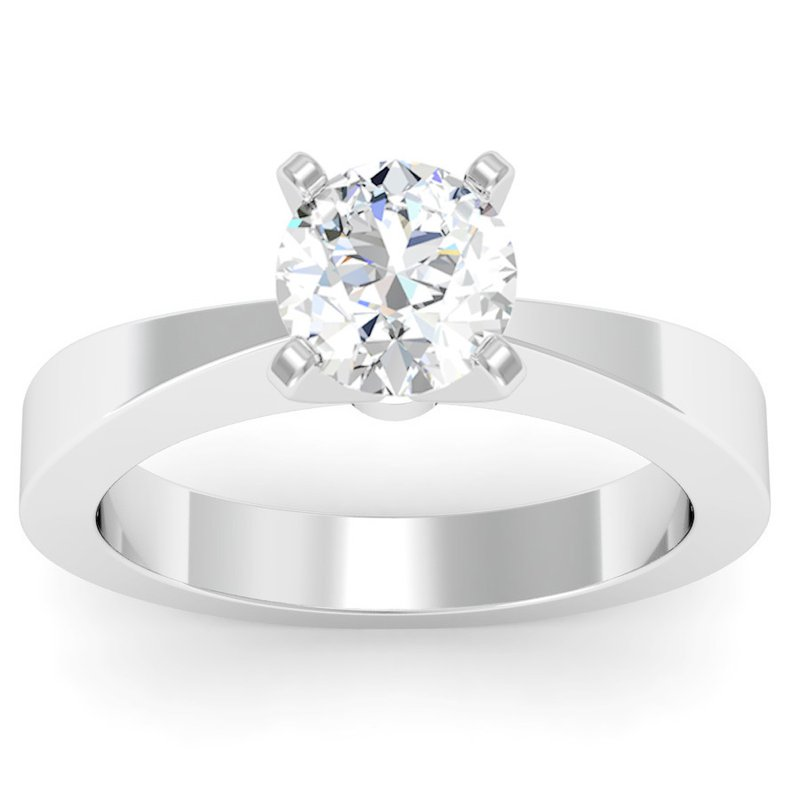 J.F. Kruse Signature Collection Tapered Solitaire Engagement Ring