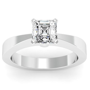 Tapered Solitaire Engagement Ring