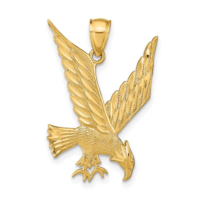 Quality Gold 14k Diamond-cut Eagle Pendant