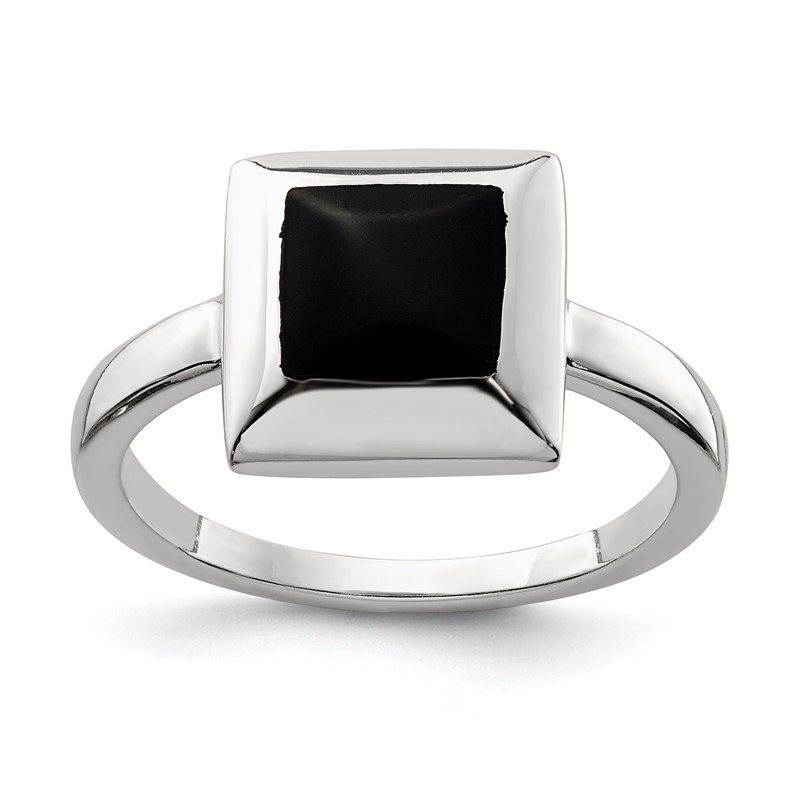 Quality Gold Sterling Silver Onyx Ring