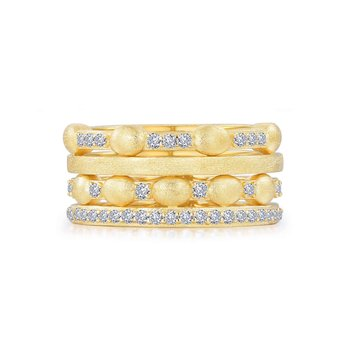 Multi-Row Half Eternity Band