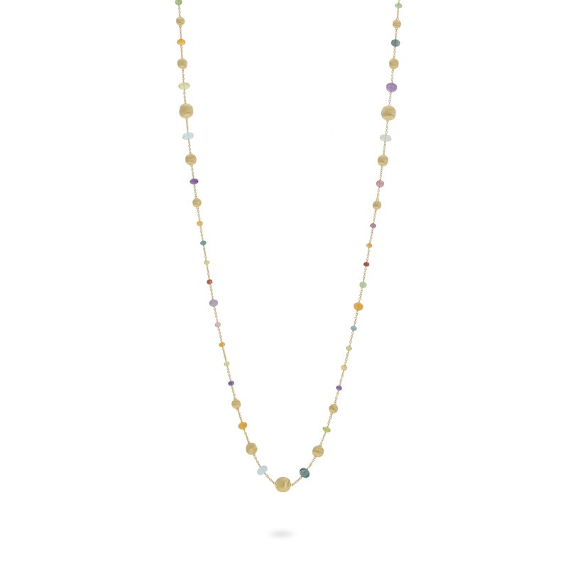 Marco Bicego Africa Gemstone Long Statement Necklace