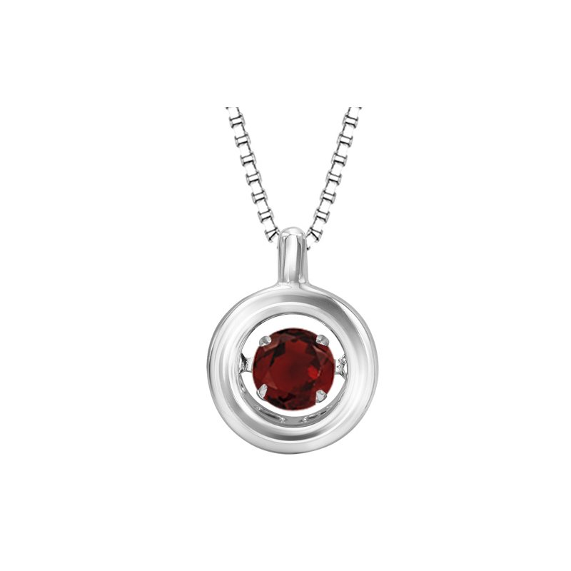 Rhythm of Love Silver Garnet Rhythm Of Love Pendant