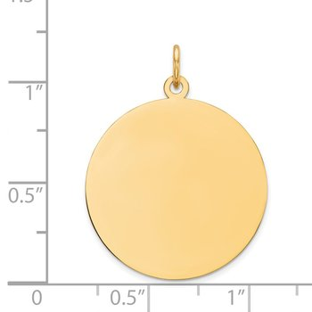 14k Plain .013 Gauge Circular Engravable Disc Charm
