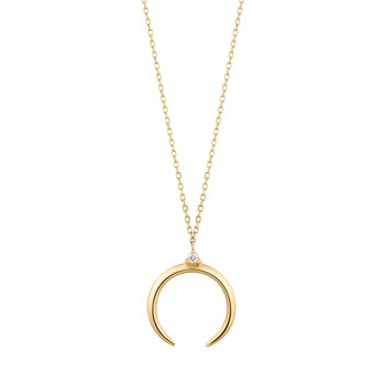 GLORIA | Diamond Arc Necklace