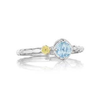 Petite Simply Gem Ring featuring Sky Blue Topaz