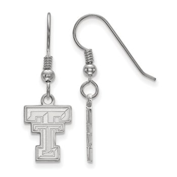 Sterling Silver Texas Tech University NCAA Earrings