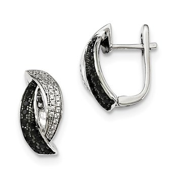 Sterling Silver Black Spinel & CZ Brilliant Embers Earrings