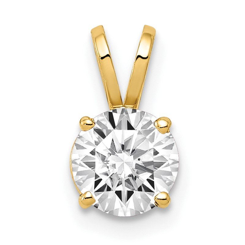 Quality Gold 14k 6mm Cubic Zirconia pendant