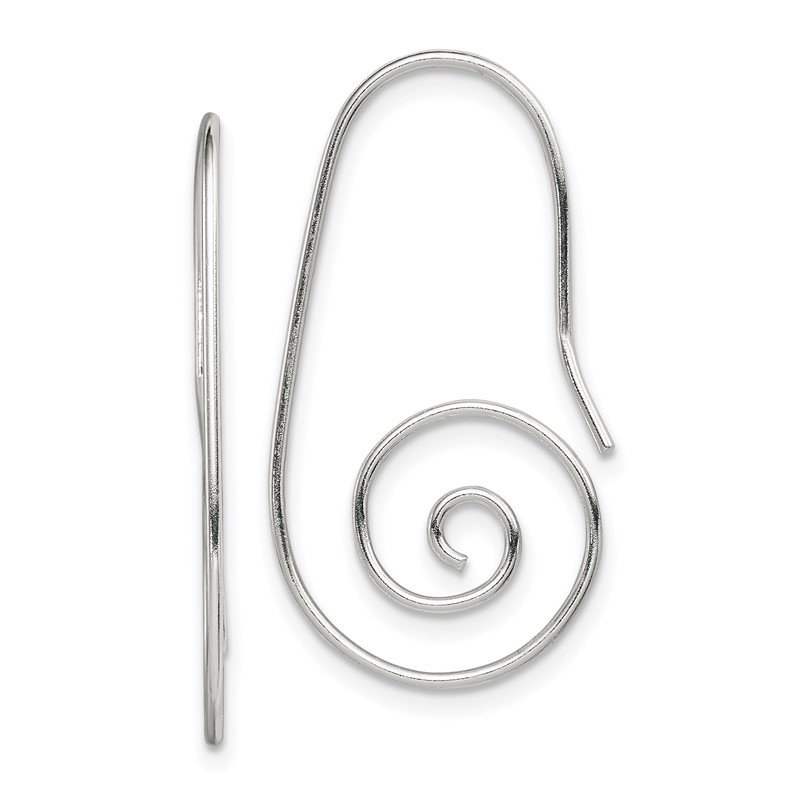 Quality Gold Sterling Silver Hook Swirl Earrings