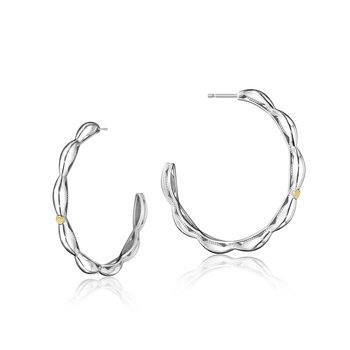 Crescent Contour Hoop Earrings