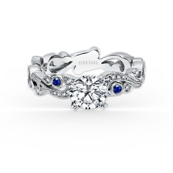 Natural Sapphire Diamond Engagement Ring