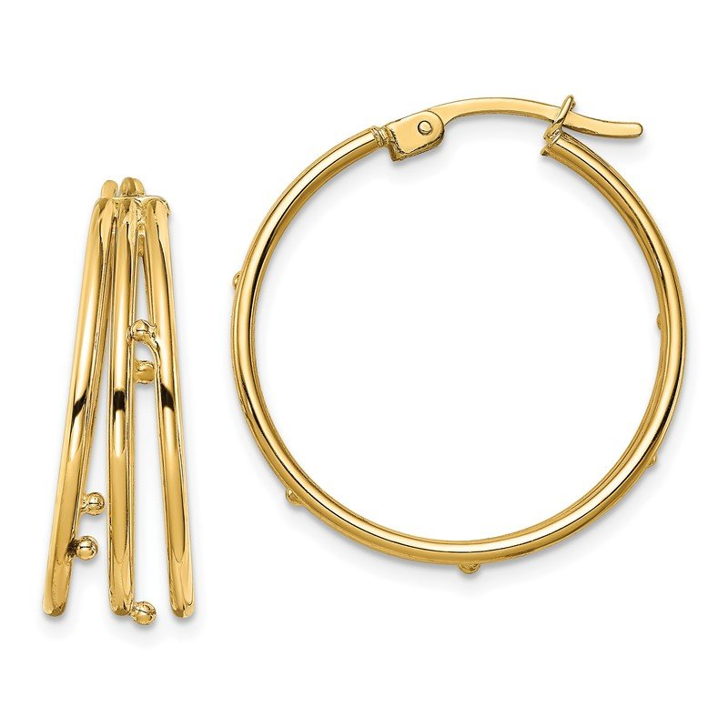 Quality Gold 14K Hoop Earrings