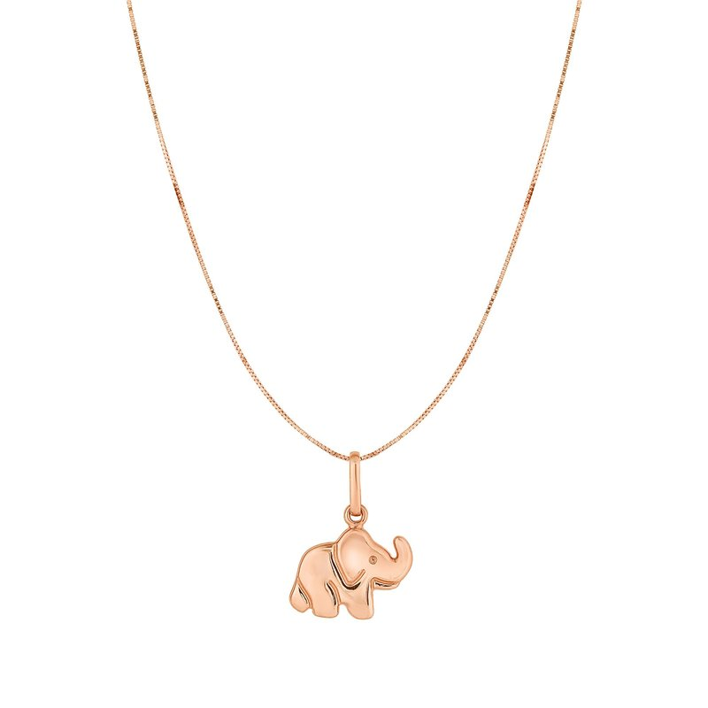 Royal Chain 10K Gold Elephant Necklace
