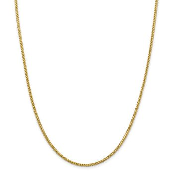 14k 2.35mm Semi-solid 3-Wire Wheat Chain