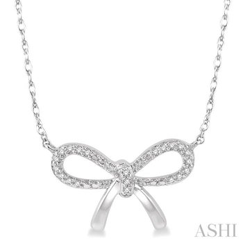 diamond bow tie necklace