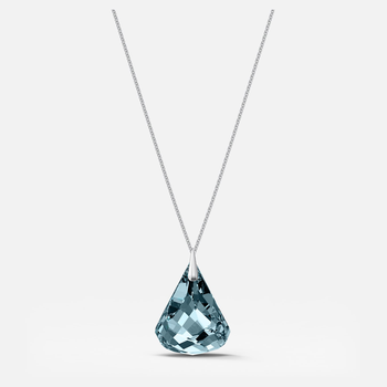 Spirit Necklace, Blue, Rhodium plated