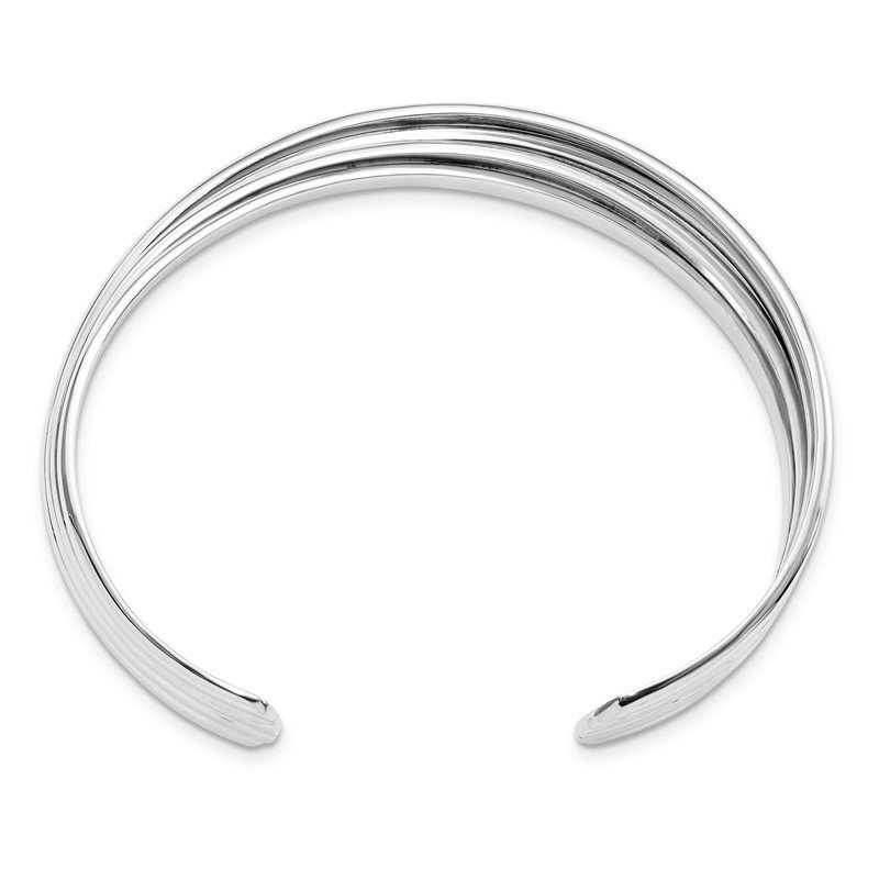 Leslie's Leslie's Sterling Silver Polished Twisted Slip-on Bangle