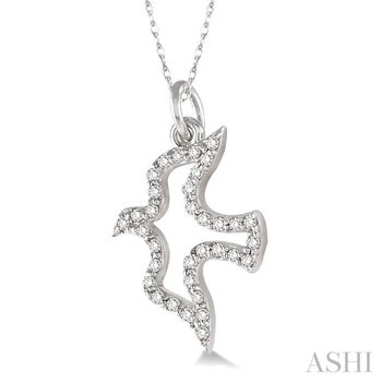 dove diamond pendant