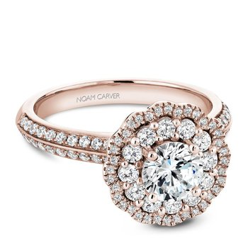 Noam Carver Floral Engagement Ring B144-16RA