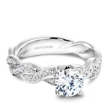Noam Carver Regal Engagement Ring B059-01A