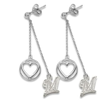 Sterling Silver Milwaukee Brewers MLB Earrings