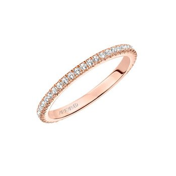 14k Rose Gold Eternity Diamond Wedding Band