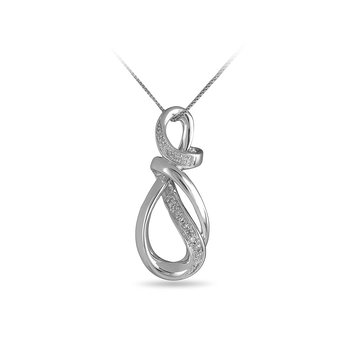925 SS Fashion Intertwined Loop Slider Pendant