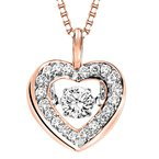 Rhythm of Love 14KP Diamond Rhythm Of Love Pendant 1/3 ctw