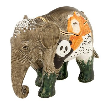 Jungle Book Elephant painted wild animals on large elephant