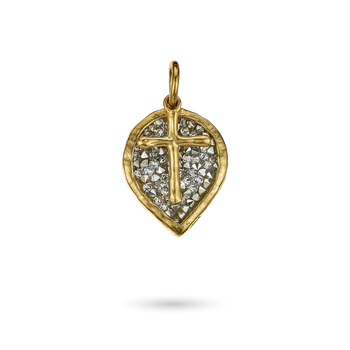 Lotus Cross Kristal Pendant