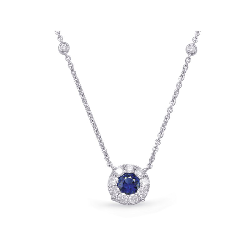 S. Kashi  & Sons White Gold Sapphire & Diamond Necklace