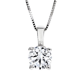 Four-Prong Diamond Pendant